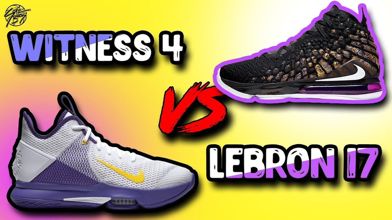 Nike Lebron Witness 4 Vs Nike Lebron 17 Lebron James Shoes Youtube