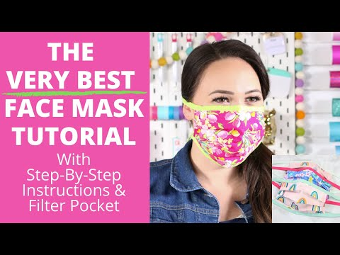 Diy Best Fabric Face Mask Step By Step Tutorial For Beginners Sweet Red Poppy Youtube