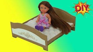 Как сделать кровать для куклы своими руками DIY