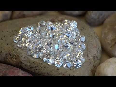 2,00 mm F-G Moissanit Moissanite Diament Brylant małe drobne video