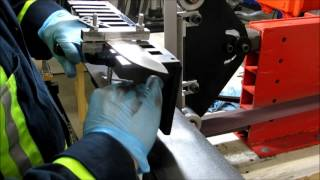 grinding a knife bevel with a jig