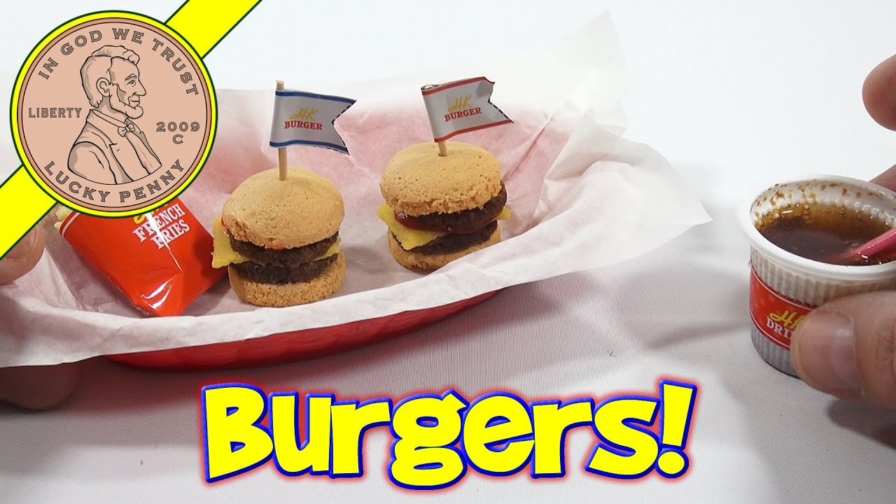 Double Cheeseburger DIY Japanese Kit - Kracie Happy Kitchen Popin ...
