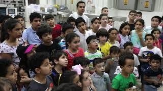 زيارة اكاديمية فاميلي تايكواندو ضمن فعالياتهم للنادي الصيفي للاطفال لمصنع المواشي.