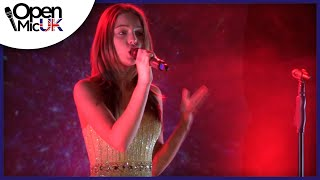 WHITNEY HOUSTON - RUN TO YOU Performed by OLIVIA GARCIA at Open Mic UK GRAND FINAL Singing Competiti