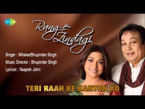 Teri Raah Ke Kanton Ko | Ghazal Song | Bhupinder Singh, Mitalee Singh