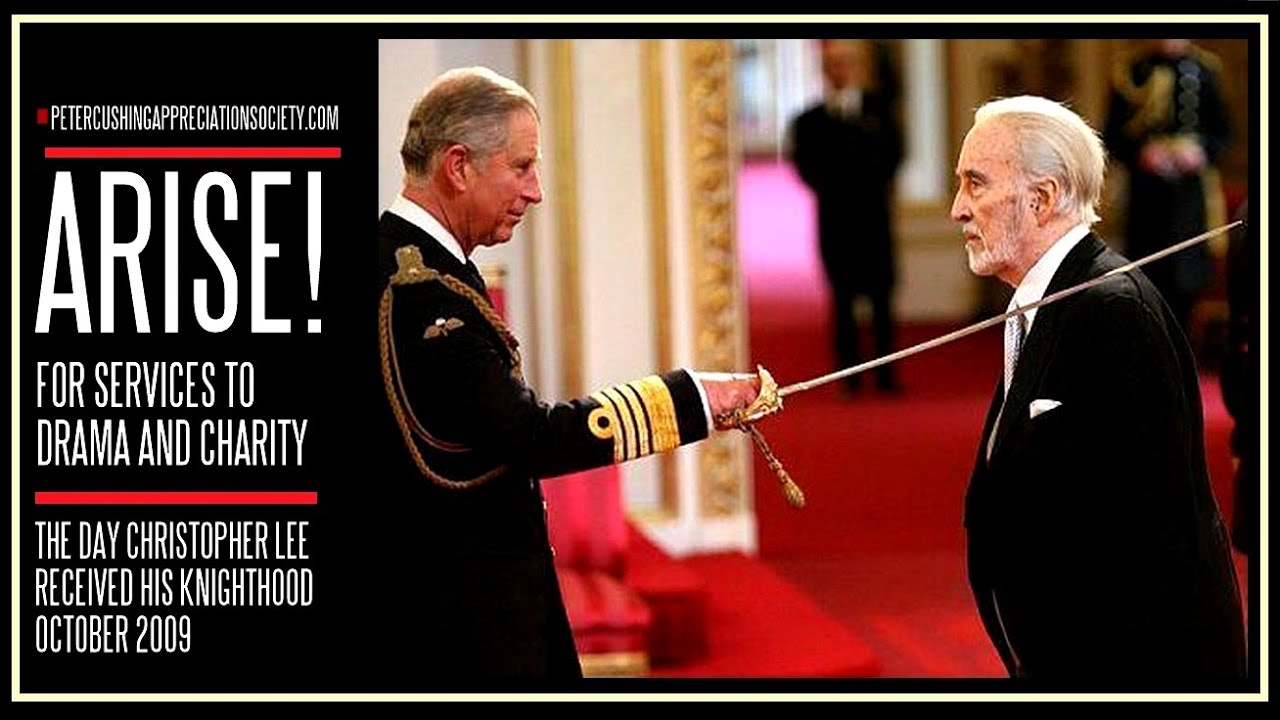 CHRISTOPHER LEE IS KNIGHTED 2009 - YouTube