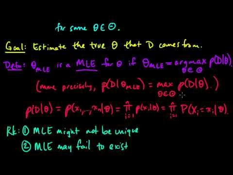 ML 41 Maximum Likelihood Estimation MLE part 1