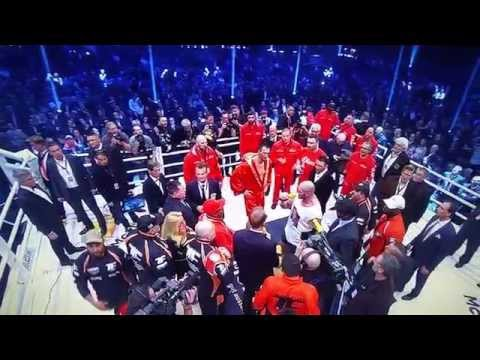 Tyson Fury Sings In The Ring