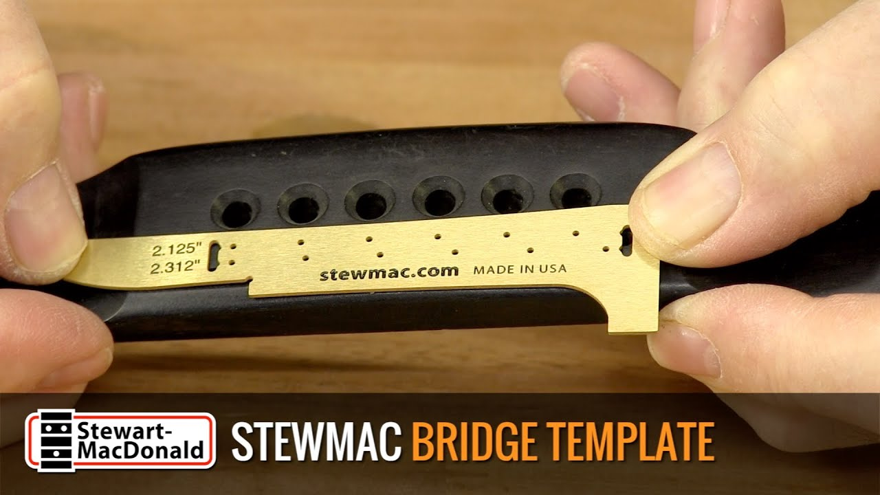 Acoustic Guitar Bridge Template Demo