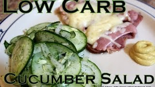 Atkins Diet Recipe: Low Carb Cucumber Salad (IF)