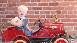 The Antique Pedal Fire Truck