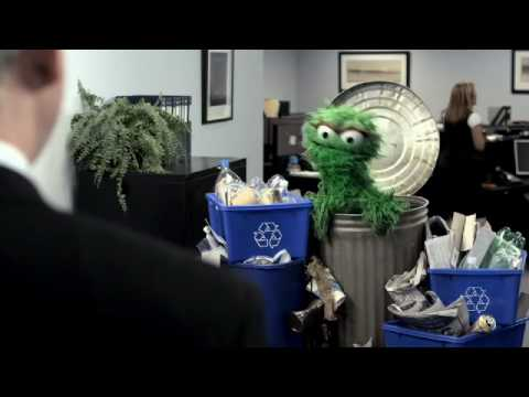 Oscar the Grouch Doesn't Understand Garbage Reduction
