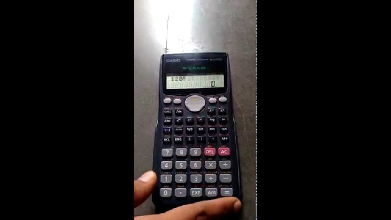 how to convert from degree to radian using calculator