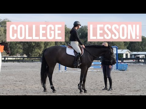 College Eq Team Lesson Vlog  Equestrian Prep