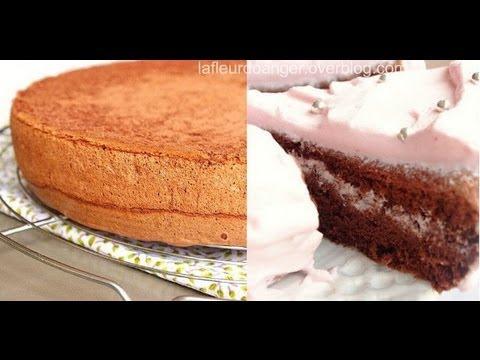 Cake Design Recette Genoise : Recette de genoise au chocolat chocolate sponge cake ...