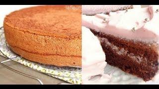 Recette de génoise au chocolat   chocolate sponge cake recipe