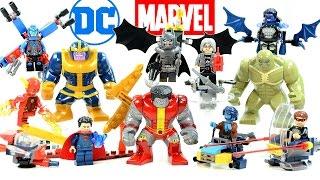 DC's Batman Superman Flash Atom & Marvel's X-Men Minifigures & Big Figures Unofficial LEGO Set