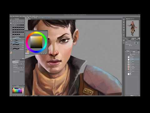 Character painting in Clip Studio Paint – Time lapse