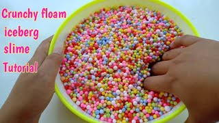 Cara membuat Rainbow crunchy floam slime