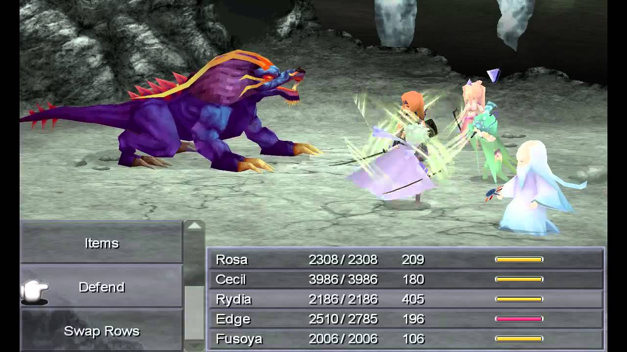 Final Fantasy IV - Steam - Part 16 - Lair Of The Father (Bahamut ...