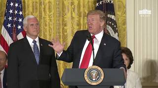 President Trump calls for the creation of Space Force, the sixth branch of the armed forces