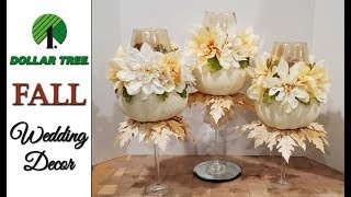 Dollar Tree  � Fall � Wedding Decor DIY