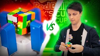 Robot VS Rubik's cube world record holder Feliks Zemdegs