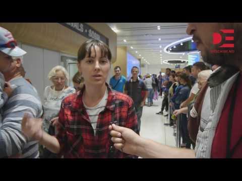 Aeroportul din Chișinău // pasagerii de pe cursa S7 Moscova-Chișinău