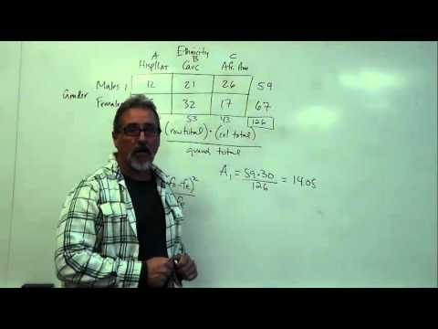 Chi Square: Two-Way Chi Square Calculation Example