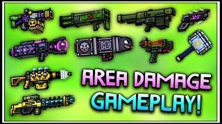 Pixel Gun 3D - Area Damage Weapon Gameplay! (Using ALL Area Damage Guns)