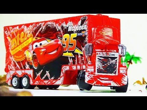 Mack Truck Crash & Repair!  Disney Cars Toys Video for Kids