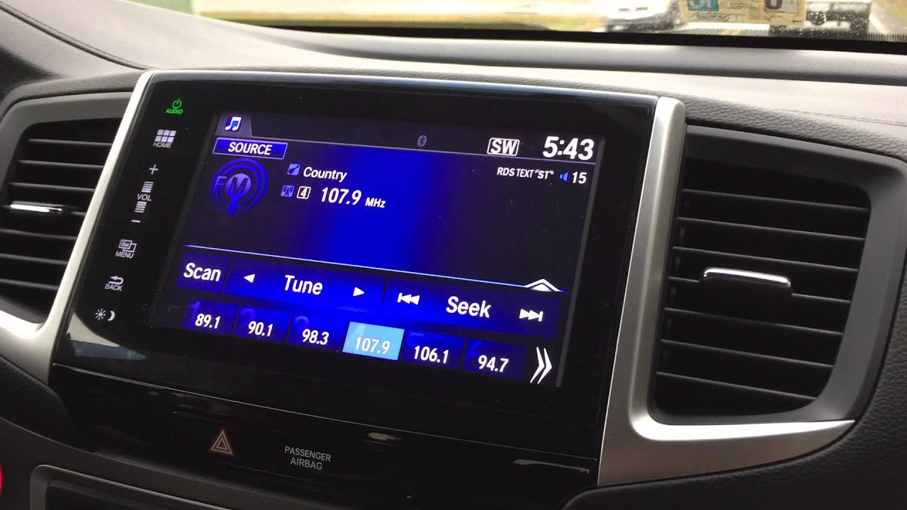 2016 Honda Pilot EX-L FM Radio Problem - YouTube
