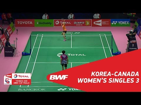 Uber Cup | WS3 | Se Young AN (KOR) vs Brittney TAM (CAN) | BWF 2018