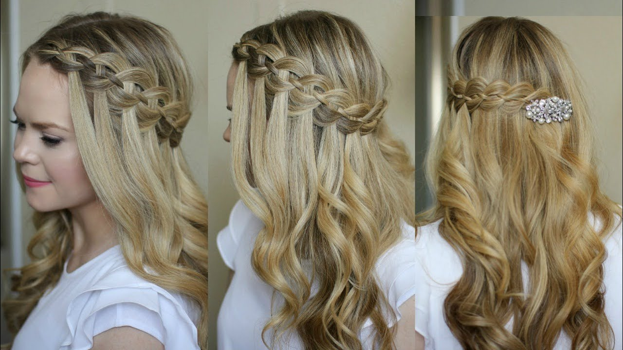 Four Strand Waterfall Braid Missy Sue YouTube