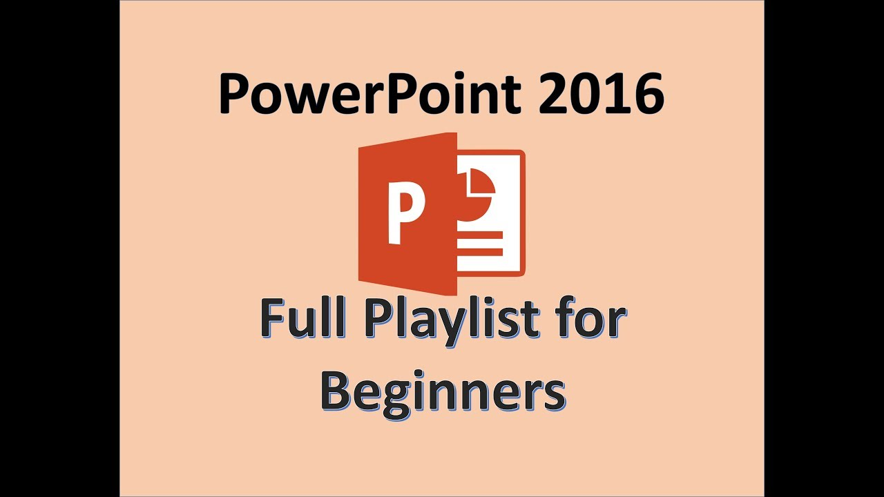 Powerpoint 2016 Tutorial For Beginners Mos Exam Tutorials