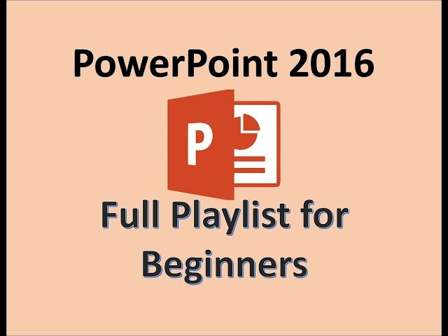 PowerPoint 2016 Tutorials Playlist- Learn How To Use PowerPoint - Microsoft Office Specialist Exam Practice for MOS Test
