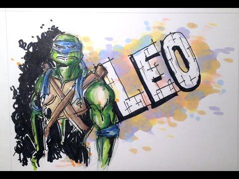 how to draw leonardo tmnt