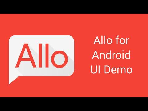 Allo for Android UI Demo