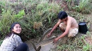 カンボジアでの素晴らしい釣り - バタンバンでの釣り方法 - ニューヨーク(パート030) thumbnail