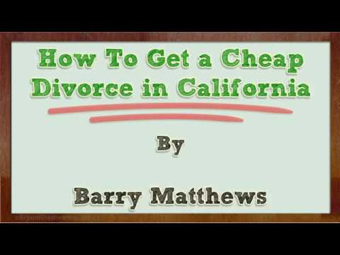 How To Get a Cheap Divorce in California