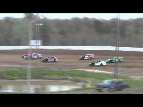 Eagle Valley Speedway Modified Wreck April 29th 2012