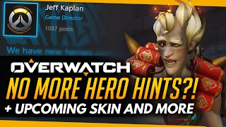 Overwatch | NO MORE HERO HINTS?! + Legendary Skins, Custom Game & Guild News!