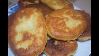 Жаренные пирожки с картошкой.  Быстрое тесто на сметане