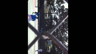Junas and Benjie's double tennis game