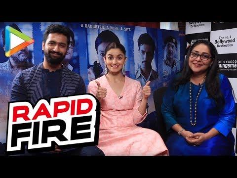 AWESOME Rapid Fire with Alia Bhatt, Vicky Kaushal and Meghna Gulzar
