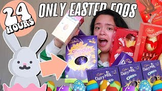 I ONLY ate EASTER EGGS for 24 HOURS?! *I hate myself*