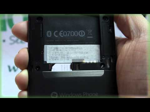 HTC HD7: Inserting the SIM Card