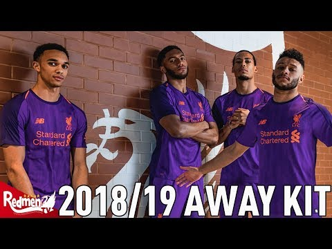 separation shoes 3f20f 5760a Liverpool's 2018/19 Away Kit CLOSE UP HD UNBOXING! - YouTube