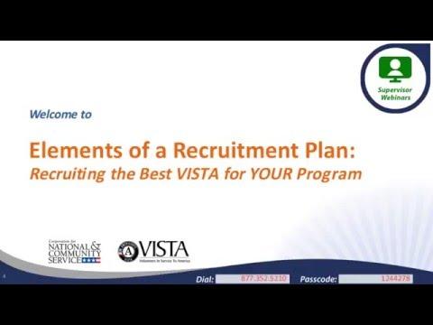 Elements of a Recruitment Plan