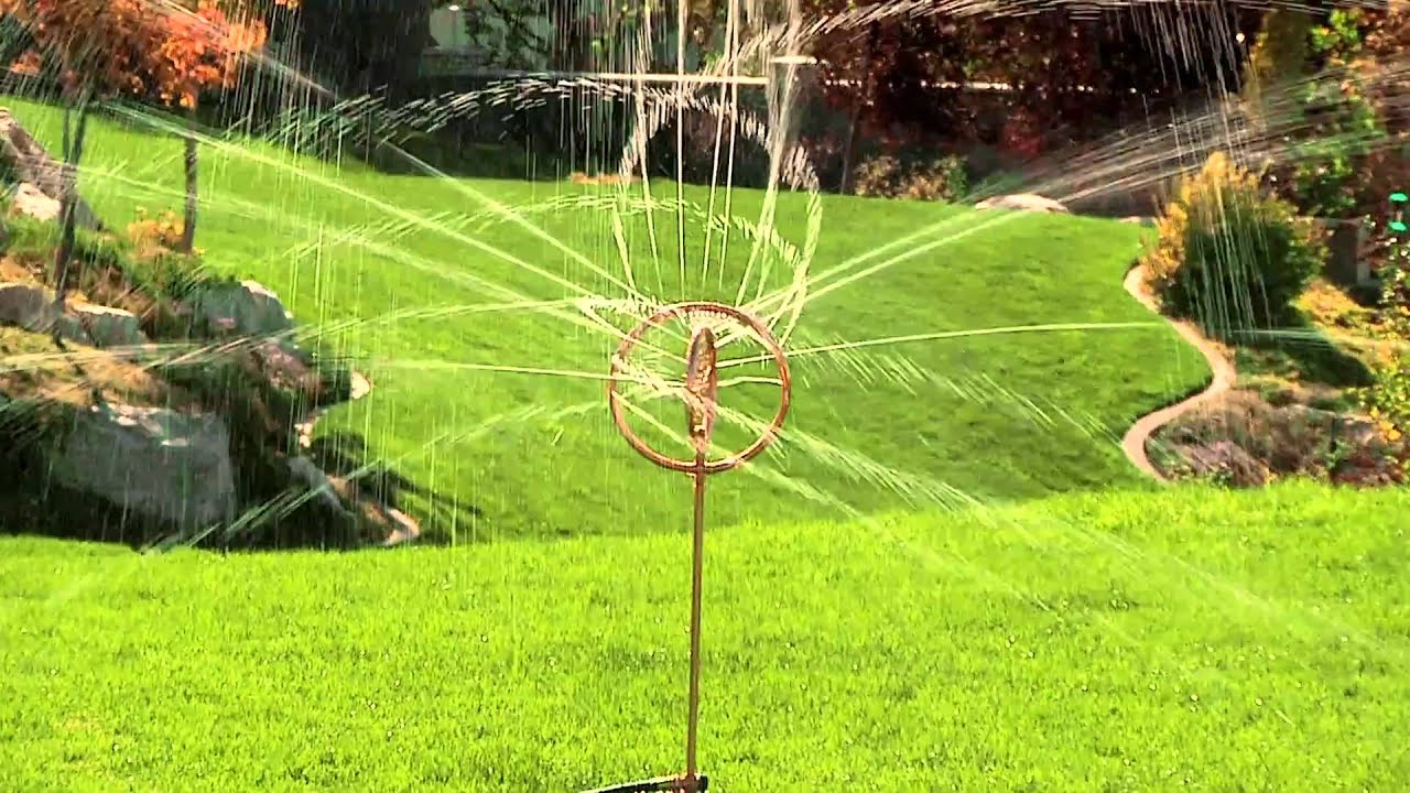 Spinning garden decorations - Decorative Spinning Sprinkler By Orbit